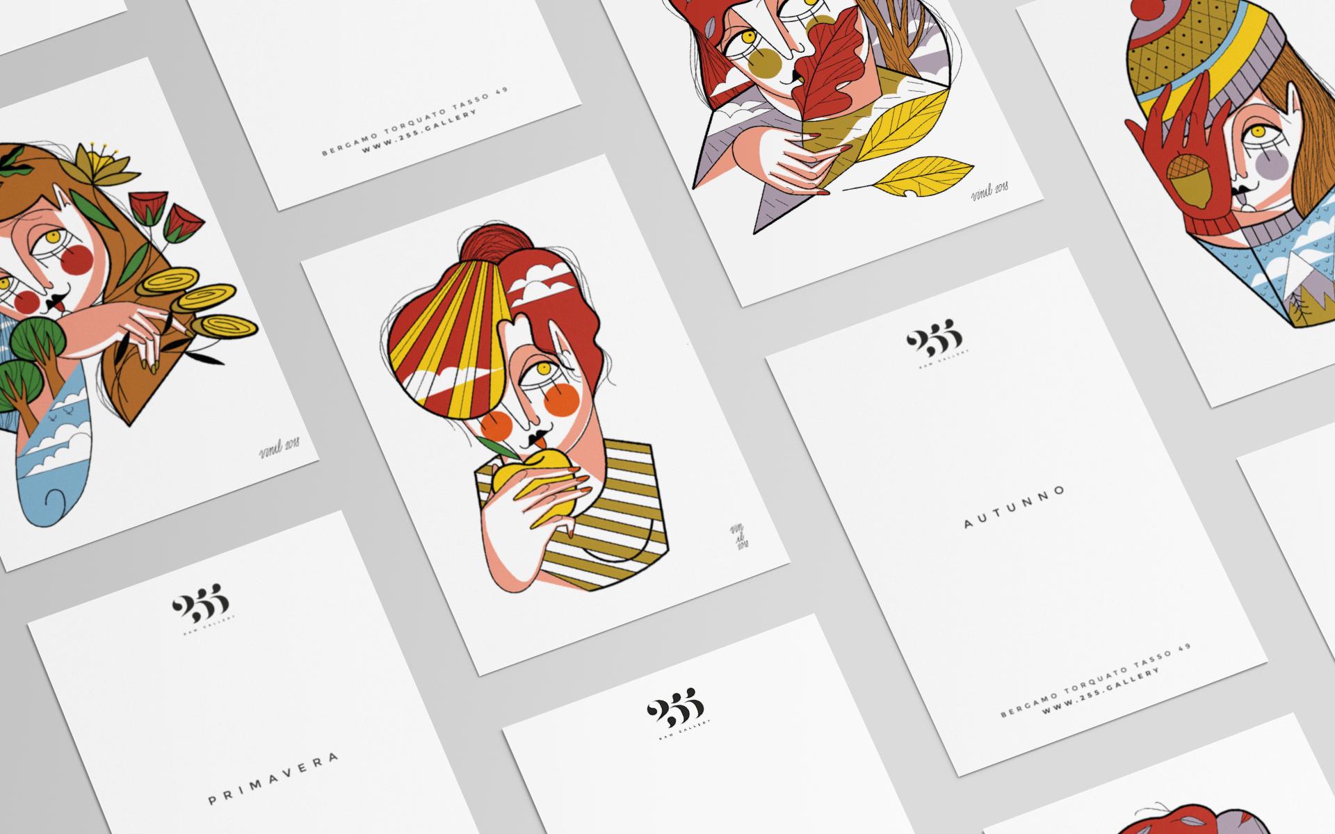6 VINIL Cartoline Stagioni