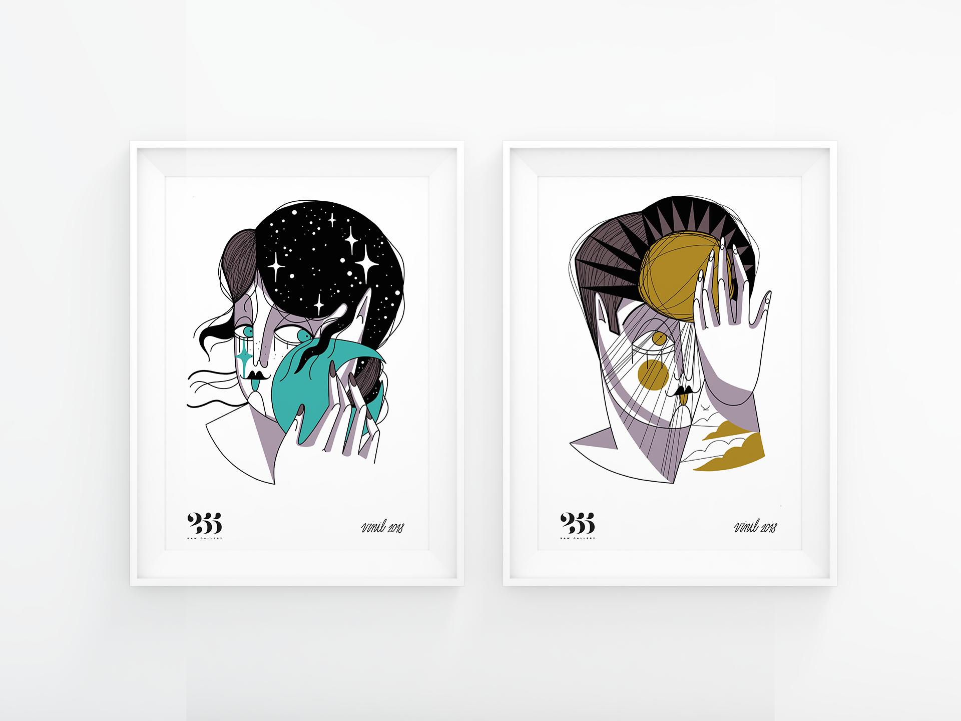 7 VINIL Poster Sole e Luna